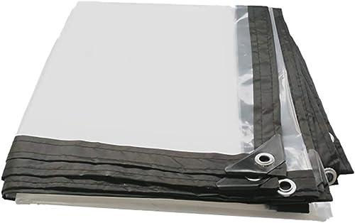 EU-14-Haucalarm Bache de Prougeection Pratique bache imperméable Transparente de bache de Tente extérieure avec Le Tissu perforé de Hangar de revêtement de Sol