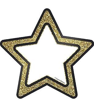 Carson Dellosa – Gold Glitter Stars Colorful Cut-Outs Classroom Décor 36 Pieces