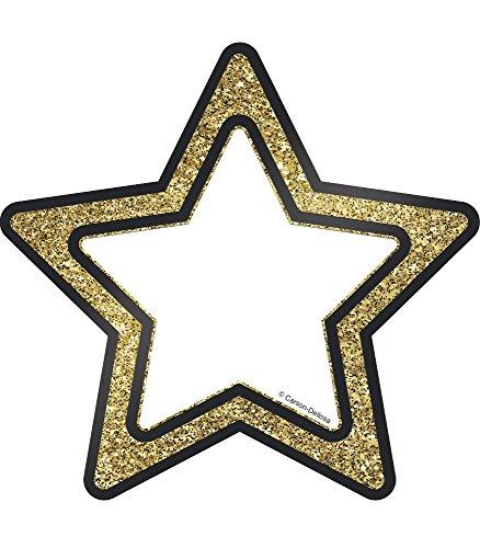 Carson Dellosa – Gold Glitter Stars Colorful Cut-Outs, Classroom Décor, 36 Pieces