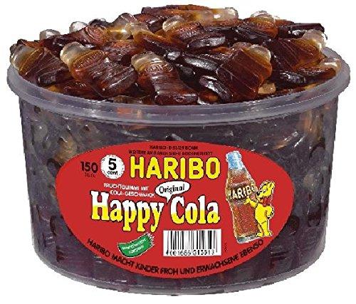 Haribo Colafläschen Happy-Cola, Fruchtgummi, 150 Stück, 1,2KG