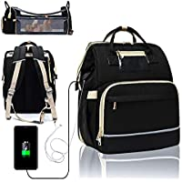 Xingsea 6 in 1 Travel Baby Bed Diaper Bag Backpack with Changing Station