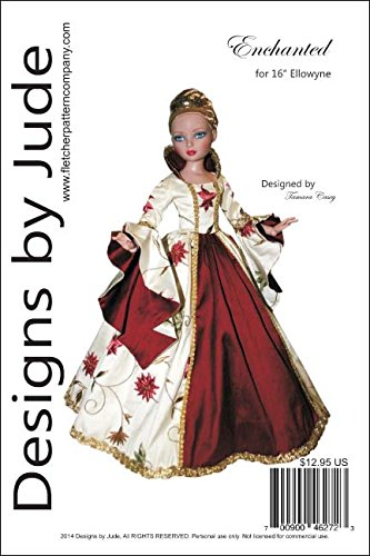 Enchanted Court Gown Pattern for 16'Ellowyne Wilde Dolls Tonner
