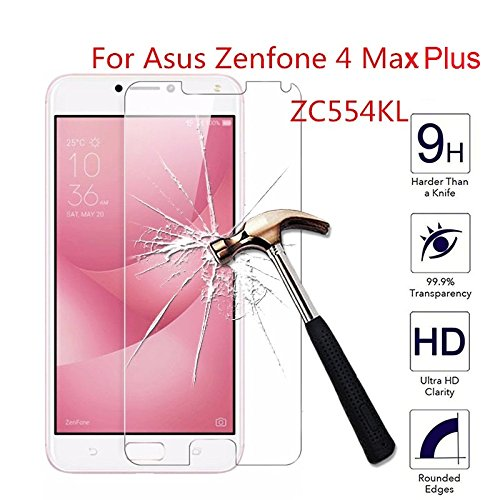 MARSHLAND 2.5D Tempered Glass Case Friendly Anti Scratch Bubble Free Screen Protector Tempered Glass Compatible for Asus Zenfone 4 Max ZC554KL (Transparent)