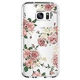 Neivi Kompatibel mit Samsung Galaxy S6 Hülle,Galaxy S6 Edge Schutzhülle Silikon Silikonhülle Transparent TPU Bumper Schutz Handytasche Handyhülle Schale Case Cover für S6 Edge (Blume1, Galaxy S6)