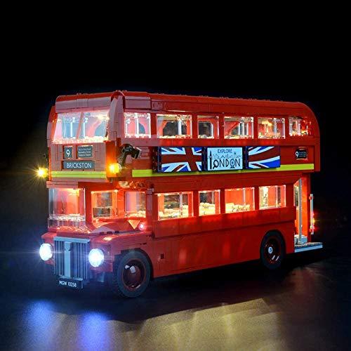 RTMX&kk Kit de luz LED para (Creator Expert London Bus), Compatible con Lego 10258 Modelo de Bloques de Construcción (NO Incluido en el Modelo)