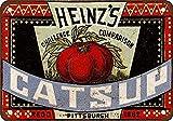 MNUT 1883 Heinz's Catsup Cartel de Metal para decoración de Pub con Aspecto Vintage, 20,3 x 30,5 cm