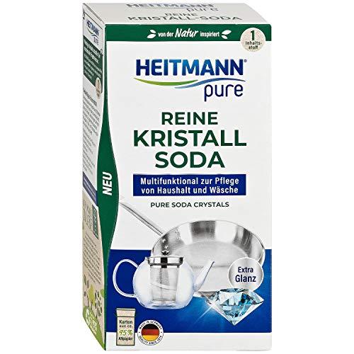 HEITMANN pure Reine Kristall-Soda: Ökologischer Reiniger für den Haushalt, Zugabe zu Spülmittel und Putzmittel, 1x 350g
