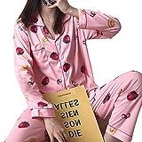 Pajamas Nightwear Womens Pajamas Sets Cartoon Print Autumn Long Sleeve Two Pieces Set Women Sleepwear Sexy Nightwear For Women Sleeping Set XXL Color4
