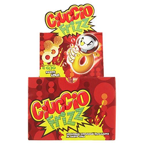 Gelco Ciuccio Frizz, Caramelle Gommose Frizzanti, Gusto Cola, 150 Monopezzi, Ottimo per Feste per Bambini