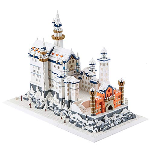LYXCM De Bloques de construcción de Modelo de Castillo de Swan, Kit de Ladrillos de Juguetes de Modelo de Castillo de Lago de los cisnes | Juegos de Rompecabezas 3D para