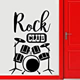 Set drum silhouette pintura de pared rock club decoración decoración de moda instrumento musical drum set kit creativo wall sticker wallpaper A8 30x42cm