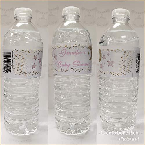Twinkle Twinkle Little Star Baby Shower Favors Water Bottle Labels WE PRINT /& SHIP Glossy