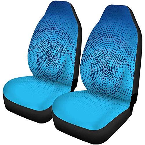 Enoqunt autostoelhoezen voor autostoel met blauw menselijk oog