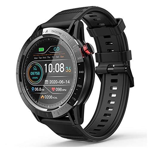 ZYDZ Smart Watch, 30M Impermeabile IP68 Sport Smart Watch FT03 1.3 Pollici Touch Screen Touch Screen Orologio Cardiaco Rate Rate Tracker Smartwatch da Uomo iOS da Donna,A