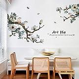 DERUN TRADING - Adhesivos decorativos para pared, diseño de hojas de flores y árboles, extraíble, vinilo para recámara o guardería, decoración de pared, galería de salón, recámara, oficina,...