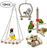 Acidea 13 Packs Parrots Chew Toys, Ladders, Small Parrots Chew to Keeps Their Beaks in Order, appease Their Emotions and Prevent Them from Plucking Feathers and Screaming