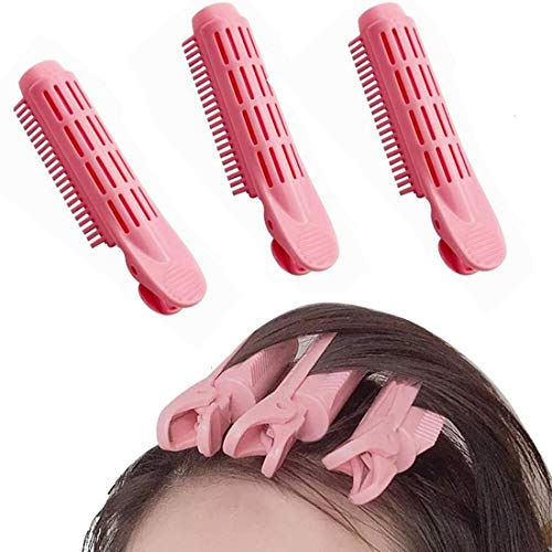 Volumizing Hair Root Clip, Hair Curlers Styling Kit, Bangs Stereotyped Hair Curler Clip, DIY Salon for Volumizing Hair Root Clip Self Grip Root Volume Hair Curler Clip(Pink)