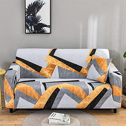 Funda De Futón Elastizado De Spandex Protector,Funda de sofá elástica Patrón elástico Fundas de sofá Totalmente Cerradas Funda de sillón Protector Universal de Muebles Ajustados-2 plazas_Barr