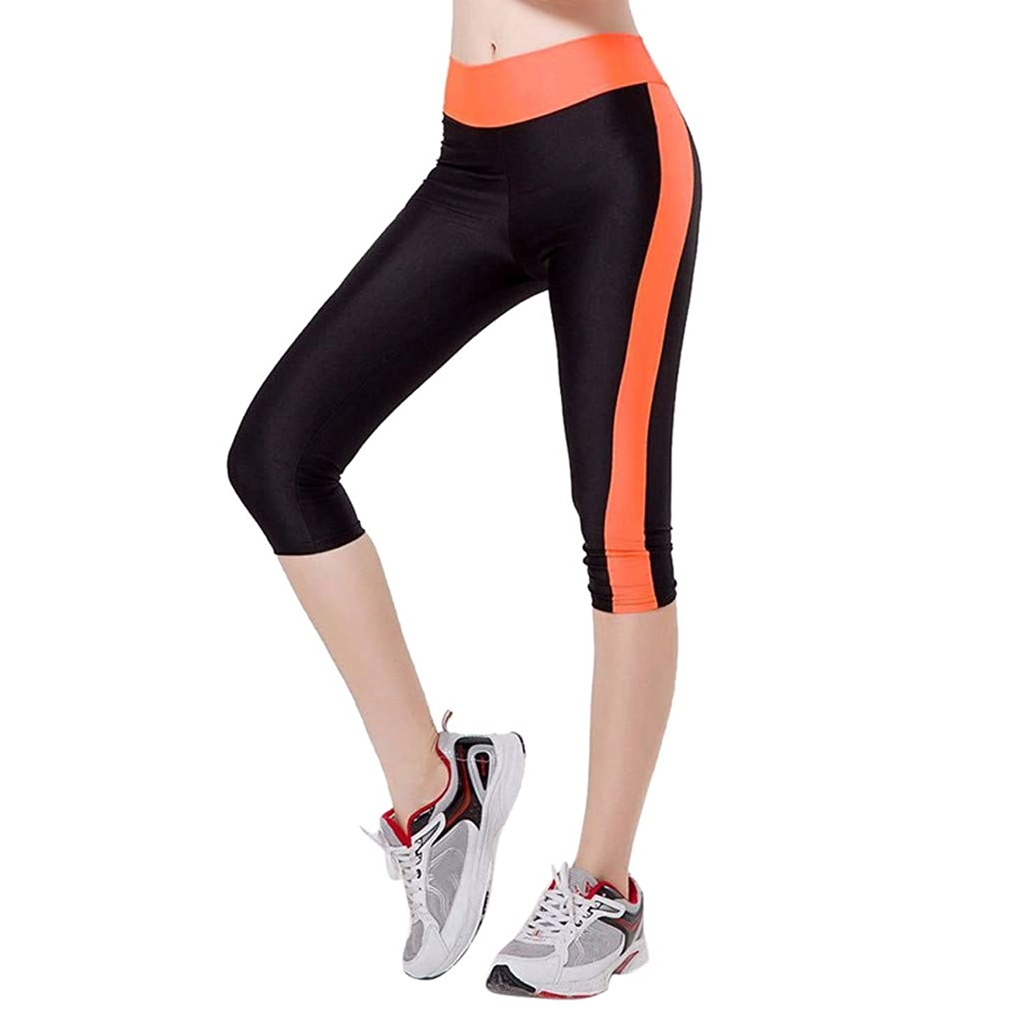 Women High Waist Out Pocket Yoga Pants, Gym Workout Running Stretch Yoga Leggings with Pockets