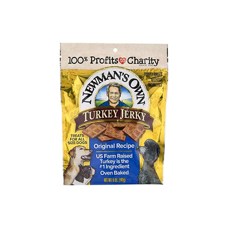 dog supplies online newman's own jerky treats for dogs, 5-oz. (pack of 6)