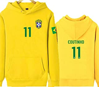 HS-ZGC Bayern Munich Club #11Philippe Coutinho Football Sweater Comfort Material Sportswear Casual Wear Soccer Fans Gift Daily Training Workout Clothes Yellow