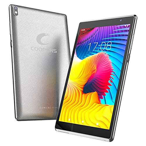 タブレット 8インチ COOPERS CP80 PLUS Android 10.0システム 4コアCPU IPSディスプレイ RAM2GB/ROM32GB Wi-Fiモデル Google GMS認証 日本語取扱説明書付き (silver)