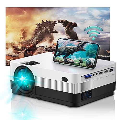 Projector WiFi Full HD, Home Cinema Home Cinema 6500 Lumens, Mini proiettore Support 1080P compatibile con USB HDMI SD AV TV Stick VGA [2021 Latest]