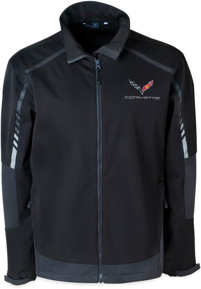C7 Corvette Embark Soft Shell Jacket : Black (X-Large)