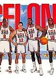 1991-92 SkyBox Basketball #545 Michael Jordan/John Stockton/Karl Malone/Magic Johnson USA USA Official NBA Trading Card