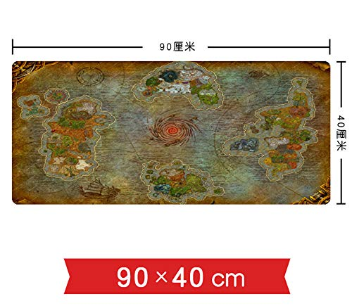 World of Warcraft Gaming-muismat, groot, 900 x 400 x 3 mm, muismat, waterdicht, met glad oppervlak, antislip onderkant van rubber D 900x400x3mm