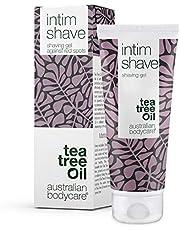 Australian Bodycare intim Shave 100ml - Intieme Scheergel met Tea Tree Olie voor ingegroeide haartjes, Irritatie & Stoppels, voor het scheren van de Bikinilijn en het Scheren van de Intieme zone, pH-Neutraal