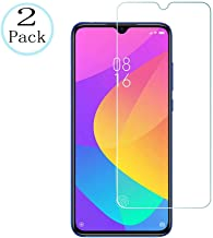 [2 Pack] Compatible for Xiaomi Mi 9 Lite Screen Protector,HD Tempered Glass Screen Protector 2.5D Round Edge Anti-Scratch Bubble Free Anti-Fingerprints 9H Hardness Ultra Thin