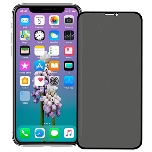 ErYao Privacy Screen Protector for iPhone 11 Pro Max Anti Spy/Scratch/Fingerprint Tempered Glass Film, 3D Touch + Camera Film for iPhone11 Pro Max (Gray)