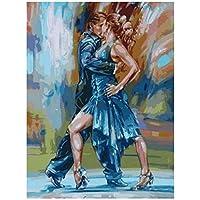 aksldf DIYダイヤモンド絵画クロスステッチカップルダンス画像フルスクエアダイヤモンド刺繡アイコン針仕事ラインストーン工芸品の装飾-40x50cmフレームなし
