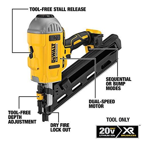 DEWALT 20V MAX XR Framing Nailer, Dual Speed, Tool Only (DCN692B)