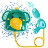 Backpack Water Guns - Squirt Gun Water Toys for Kids in Outdoor Backyard and Summer Swimming Pool (Elephant)