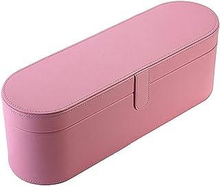 VAILANG Portátil de Cuero de PU Secador de Viaje de Viaje Caja de Almacenamiento Caja de Almacenamiento Cubierta Funda Organizador Rosa