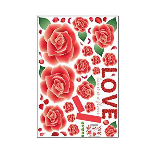 Adhesivo decorativo para pared, diseño de peonía, impermeable, acuarela, para pared, fondo de habitación