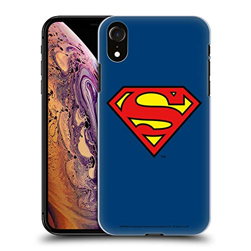Head Case Designs Officially Licensed Superman DC Comics Classic Logos Hard Back Case Compatible with Apple iPhone XR