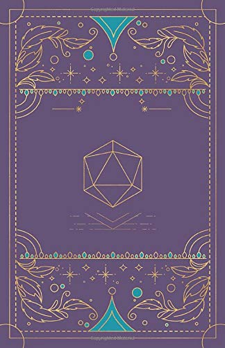 RPG Journal: SMALL SIZE: Mixed paper: Ruled, graph, hex: For role playing gamers: Notes, tracking, mapping, terrain plans: Vintage purple dice deco art
