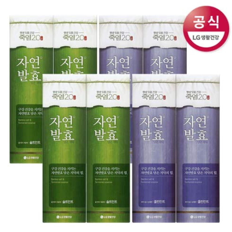 富豪回路成熟[LG HnB] Bamboo salt natural fermentation toothpaste/竹塩自然発酵入れた歯磨き粉 100gx8個(海外直送品)