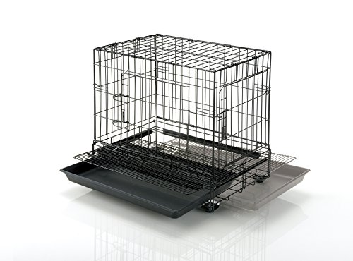 リッチェルプロフェッショナルペットケージMブラック62.5×42.5×56cm