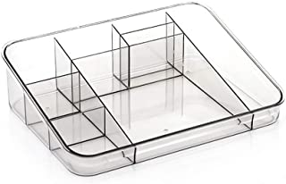SAPU Acrylic Makeup Organizer,Clear Plastic Makeup Storage Tray,Space-Saving,Stylish,for Cosmetics and Skincare Products S...
