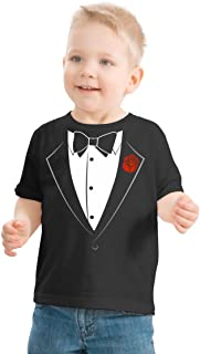 Ann Arbor T-shirt Co. Big Boys` Tuxedo Tee | Kid`s Wedding Youth & Toddler Shirt