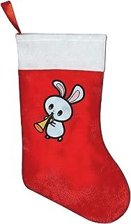 FREEHOTU Cute Kawaii Animals Bunny Marching Musical Christmas Stocking Mantel Decoration Gift Holder Party Family Holiday Xmas