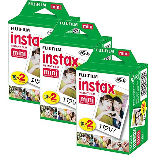Fuji Instax Mini Film Couleur Twinpack 7S 89050appareils Photo Fujifilm 60Photos