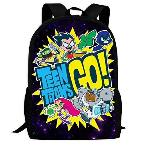 Kimi-Shop Teen_Titan Go | Sacs d'école Confortables et légers à Plusieurs Poches pour Enfants/Jeunes/garçons/Filles
