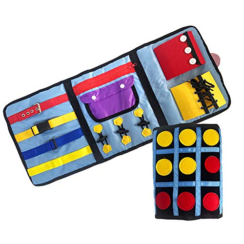 Fidget Blanket for Dementia Sensory Toys Adults Dementia Activities Autism Sensory Toys Autistic Alzheimers Therapy and Anxiety Relief Pad (One Piece)