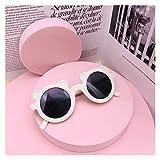 Clásico NUEVO Dibujos animados encantadores niños gafas de sol oso forma marco chicas niños gafas de sol renovación rotulada beat beat gafas Lindos tonos para exterior ( Lenses Color : White )