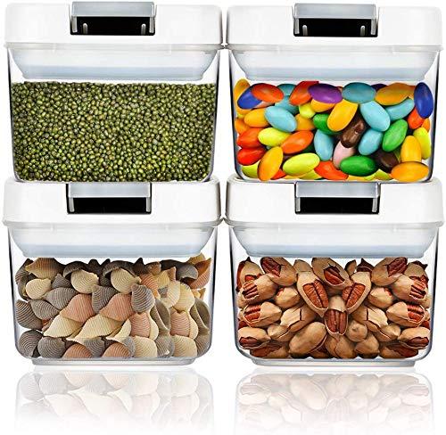 Frischhaltedosen mit luftdichten Deckeln 4 * 220ml, Lebensmittelbehälter auslaufsicher für Flüssigkeiten verschließbar für Reisen Snacks Küche Kühlschrank Speisekammer Organisation und Aufbewahrung